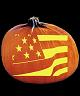 AMERICAN FLAG PUMPKIN CARVING PATTERN