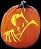 SPOOKMASTER CAPED CRUSADER PUMPKIN CARVING PATTERN