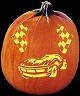 CHECKERED FLAG PUMPKIN CARVING PATTERN