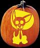 SPOOKMASTER CHIHUAHUA DOG PUMPKIN CARVING PATTERN
