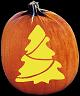 CHRISTMAS TREE PUMPKIN CARVING PATTERN