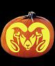COLORADO STATE RAMS PUMPKIN CARVING PATTERN