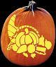 CORNUCOPIA PUMPKIN CARVING PATTERN