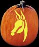 SPOOKMASTER DONKEY PUMPKIN CARVING PATTERN