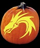 DRAGON PUMPKIN CARVING PATTERN