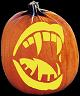 SPOOKMASTER FANG PUMPKIN CARVING PATTERN