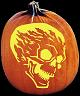 FLAME ON PUMPKIN CARVING PATTERN
