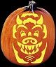 GARGOYLE PUMPKIN CARVING PATTERN