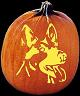 SPOOKMASTER GERMAN SHEPHERD DOG PUMPKIN CARVING PATTERN