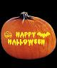 HAPPY HALLOWEEN PUMPKIN CARVING PATTERN