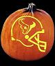 SPOOKMASTER NFL FOOTBALL HOUSTON TEXANS PUMPKIN CARVING PATTERN