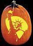 LADY LIBERTY PUMPKIN CARVING PATTERN