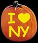 I LOVE NEW YORK PUMPKIN CARVING PATTERN