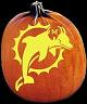 SPOOKMASTER NFL FOOTBALL MIAMI DOLPHINS PUMPKIN CARVING PATTERN