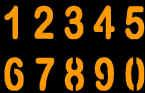 NUMBERS PUMPKIN CARVING PATTERN
