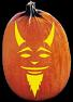 RED DEMON PUMPKIN CARVING PATTERN
