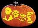 MOUNT RUSHMORE PUMPKIN CARVING PATTERN