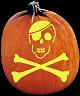 SKULL AND CROSSBONES PUMPKIN CARVING PATTERN
