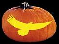 SPOOKMASTER SOARING EAGLE PUMPKIN CARVING PATTERN
