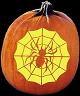 SPIDER'S LAIR PUMPKIN CARVING PATTERN