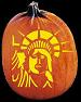 STATUE OF LIBERTY PUMPKIN CARVING PATTERN