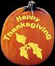 HAPPY THANKSGIVING PUMPKIN CARVING PATTERN
