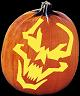 SPOOKMASTER TRAGEDY PUMPKIN CARVING PATTERN