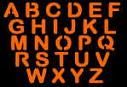 UPPER CASE LETTERS PUMPKIN CARVING PATTERN