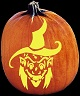 WITCHY WOMAN PUMPKIN CARVING PATTERN
