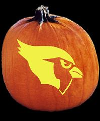 SPOOKMASTER NFL FOOTBALL ARIZONA CARDINALS PUMPKIN CARVING PATTERN