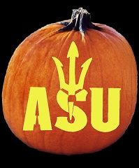 SpookMaster Arizona State Sun Devils College Football Team Pumpkin Carving Pattern