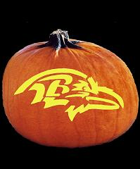 SPOOKMASTER NFL FOOTBALL BALTIMORE RAVENS PUMPKIN CARVING PATTERN