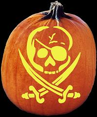 SpookMaster BLAG FLAG PIRATE Pumpkin Carving Pattern