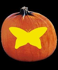SPOOKMASTER BUTTERFLY PUMPKIN CARVING PATTERN