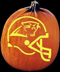 SPOOKMASTER NFL FOOTBALL CAROLINA PANTHERS HELMET PUMPKIN CARVING PATTERN