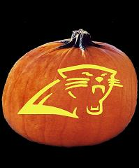 SPOOKMASTER NFL FOOTBALL CAROLINA PANTHERS PUMPKIN CARVING PATTERN