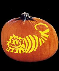 SPOOKMASTER CHESIRE CAT PUMPKIN CARVING PATTERN