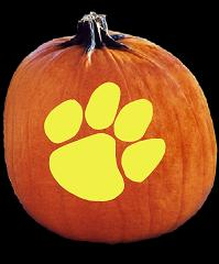 SpookMaster Clemson Tigers College Football Team Pumpkin Carving Pattern
