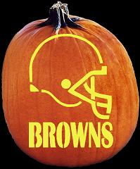 SPOOKMASTER NFL FOOTBALL CLEVELAND BROWNS HELMET PUMPKIN CARVING PATTERN