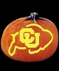 SpookMaster Colorado Buffaloes College Football Team Pumpkin Carving Pattern
