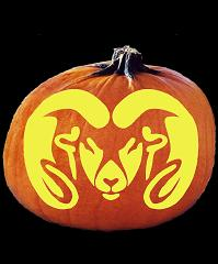 SpookMaster Colorado State Rams College Football Team Pumpkin Carving Pattern