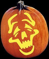 SPOOKMASTER COMEDY PUMPKIN CARVING PATTERN