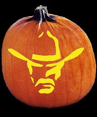 SPOOKMASTER COWBOY PUMPKIN CARVING PATTERN