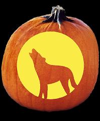 SPOOKMASTER COYOTE PUMPKIN CARVING PATTERN