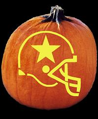 SPOOKMASTER NFL FOOTBALL DALLAS COWBOYS HELMET PUMPKIN CARVING PATTERN