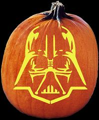 SPOOKMASTER DARTH VADER STAR WARS PUMPKIN CARVING PATTERN