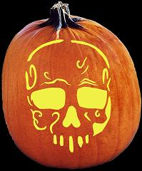SpookMaster Dearly Departed Pumpkin Carving Pattern