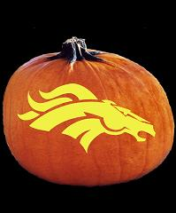 SPOOKMASTER NFL FOOTBALL DENVER BRONCOS PUMPKIN CARVING PATTERN