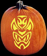SpookMaster Diablo Demon Pumpkin Carving Pattern