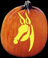 SpookMaster Democratic Party Donkey  Pumpkin Carving Pattern